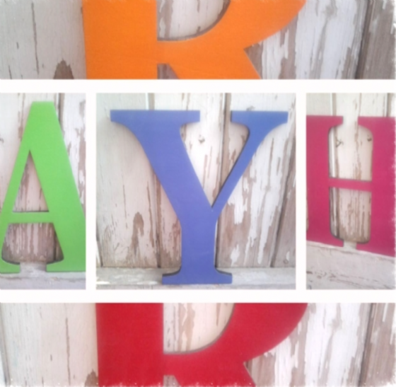 Wooden Giant Wall Letters In Bright Colours